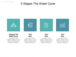 5 Stages The Water Cycle Ppt Powerpoint Presentation Visuals Cpb