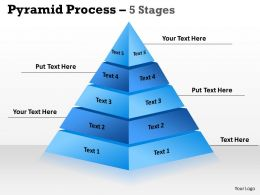 5 Stages Triangle Design For Sales