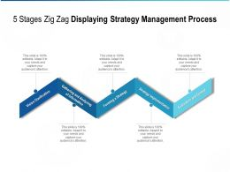 5 Stages Zig Zag Displaying Strategy Management Process