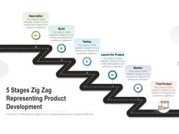 5 Stages Zig Zag Representing Product Development