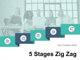 5 Stages Zig Zag Strategy Management Process Development Analysis
