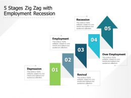 5 Stages Zig Zag With Employment Recession