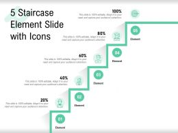 5 Staircase Element Slide With Icons