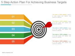 5 Step Action Plan For Achieving Business Targets Ppt Slide