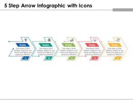 5 Step Arrow Infographic With Icons