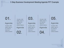 5 Step Business Development Meeting Agenda Ppt Example