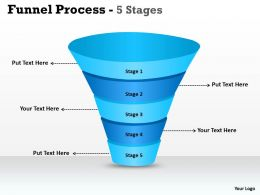 5 Step Business Funnel Process Diagram
