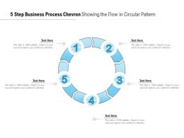 5 Step Business Process Chevron Showing The Flow In Circular Pattern