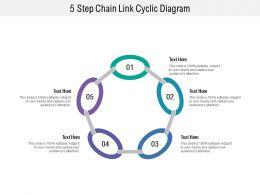 5 Step Chain Link Cyclic Diagram