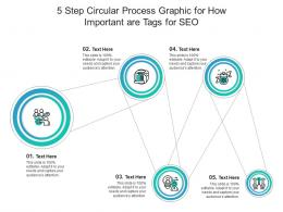 5 Step Circular Process Graphic For How Important Are Tags For SEO Infographic Template
