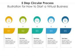 5 Step Circular Process Illustration For How To Start A Virtual Business Infographic Template