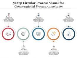 5 Step Circular Process Visual For Conversational Process Automation Infographic Template