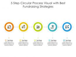 5 Step Circular Process Visual With Best Fundraising Strategies Infographic Template