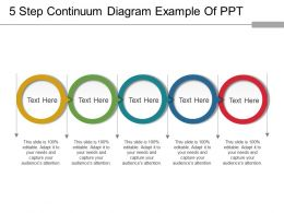 5 Step Continuum Diagram Example Of Ppt