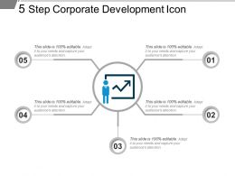 5 Step Corporate Development Icon Powerpoint Layout