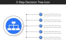 5 Step Decision Tree Icon Sample Presentation PPT