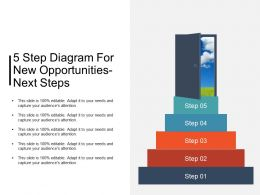 5 Step Diagram For New Opportunities Next Steps Ppt Background