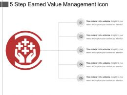 5 Step Earned Value Management Icon