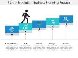 5 Step Escalation Business Planning Process