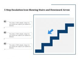 5 Step Escalation Icon Showing Stairs And Downward Arrow