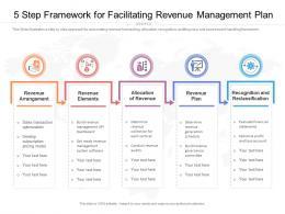5 Step Framework For Facilitating Revenue Management Plan