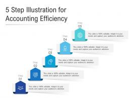 5 Step Illustration For Accounting Efficiency Infographic Template