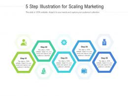 5 Step Illustration For Scaling Marketing Infographic Template