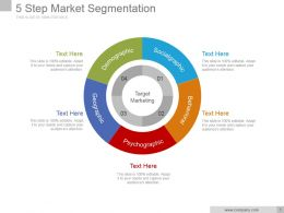 5 Step Market Segmentation Powerpoint Presentation Examples