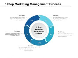 5 Step Marketing Management Process Ppt Powerpoint Presentation Slides Cpb