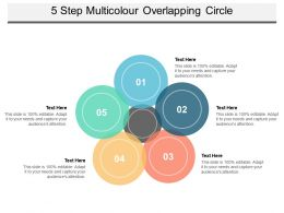 5 Step Multicolour Overlapping Circle