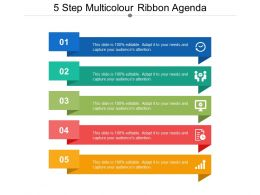 5 Step Multicolour Ribbon Agenda