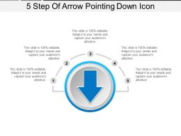 5 Step Of Arrow Pointing Down Icon