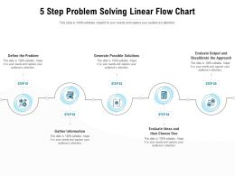 5 Step Problem Solving Linear Flow Chart
