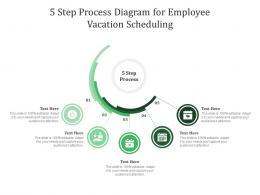 5 Step Process Diagram For Employee Vacation Scheduling Infographic Template