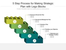 5 Step Process For Making Strategic Plan With Lego Blocks