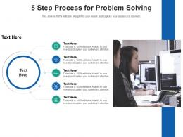5 Step Process For Problem Solving Infographic Template
