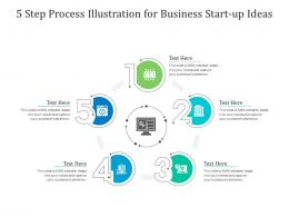 5 Step Process Illustration For Business Start Up Ideas Infographic Template