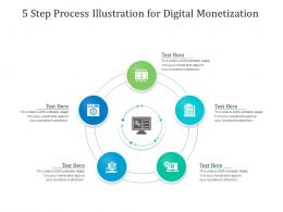 5 Step Process Illustration For Digital Monetization Infographic Template