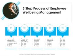 5 Step Process Of Employee Wellbeing Management