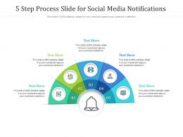 5 Step Process Slide For Social Media Notifications Infographic Template