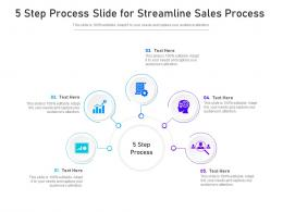 5 Step Process Slide For Streamline Sales Process Infographic Template