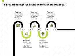 5 Step Roadmap For Brand Market Share Proposal Ppt Powerpoint Presentation Objects