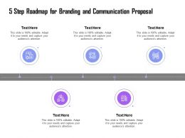 5 Step Roadmap For Branding And Communication Proposal Ppt Example Icons