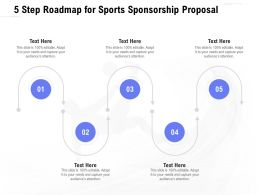 5 Step Roadmap For Sports Sponsorship Proposal Ppt Powerpoint Presentation Gallery