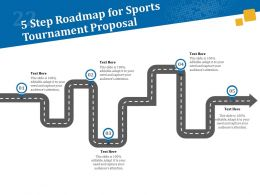 5 Step Roadmap For Sports Tournament Proposal Ppt Powerpoint File