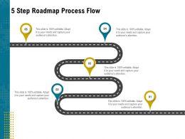 5 Step Roadmap Process Flow L1950 Ppt Powerpoint Presentation Infographics Picture