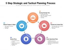 5 Step Strategic And Tactical Planning Process