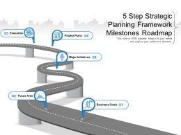 5 Step Strategic Planning Framework Milestones Roadmap