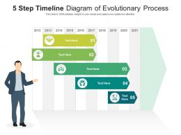 5 Step Timeline Diagram Of Evolutionary Process Infographic Template