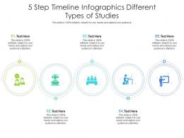 5 Step Timeline Different Types Of Studies Infographic Template